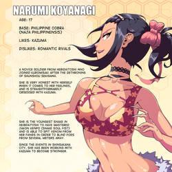 Character Pages - Narumi by verticalfish