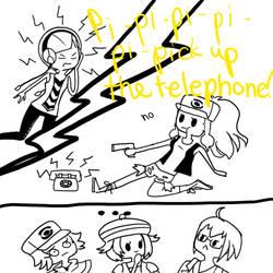 Telephone? No. by i-says-hi