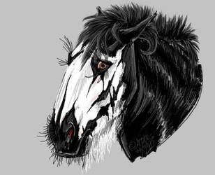 Corpsepaint horsie by Afuze