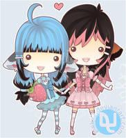 COM: Kini and Rayne: Sweet by pinkx2