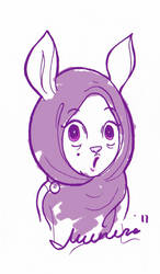 Paan the Hyper Hare by moonhmz