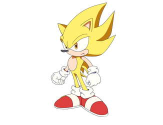 Super Sonic Render by ItachiUchihaHD