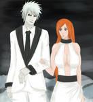 Hichigo and Orihime by qwertalert5