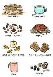 favourite foods by maekiel