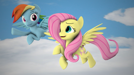 [SFM] Rainbow Dash and Fluttershy by MythicSpeed
