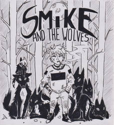 Smike and dah wolves by Chat-Mot
