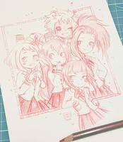 Boku no Hero Girls by Rabiscario