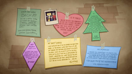Aurora's Wall of Letters by jgss0109