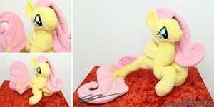 Fluttershy Inspired Hippocampus Plushie by LiChiba
