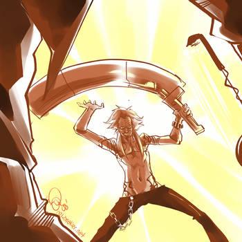 NMH: Travis vs Death Metal by karniz