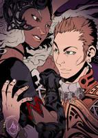 Final Fantasy XII: Fran + Balthier by karniz