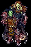 Commission: Rargnashas and Grogona by karniz