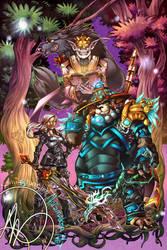Commission: Lyndra, Garrod/Karu, Assukun by karniz