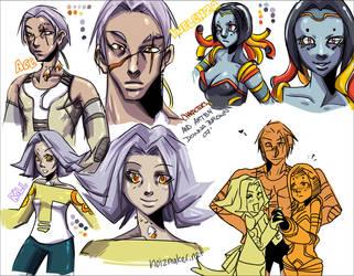 INFLUENZA: Character Sheets by karniz