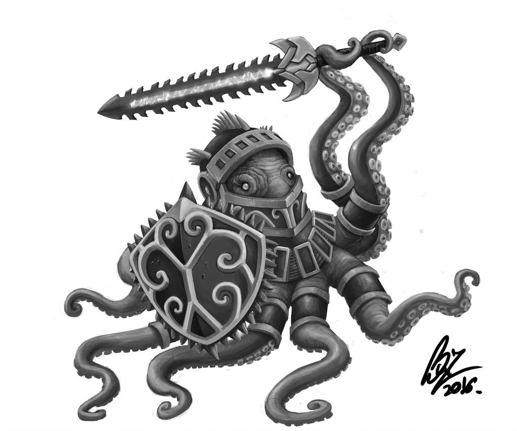 Octopus Knight by Savedra