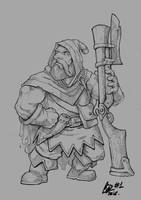Inktober 2016 #1: Dwarf Rifleman by Savedra