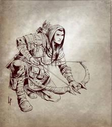 Neela half-elf ranger by Savedra