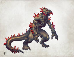 Arcane Half-Dragon by Savedra