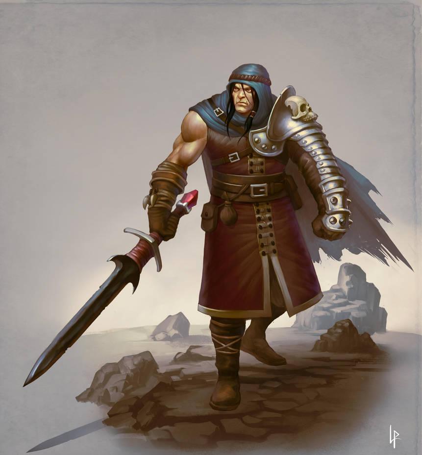 Half-orc swordsmaster by Savedra