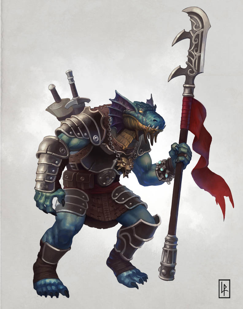 Dragonborn Battlemaster by Savedra