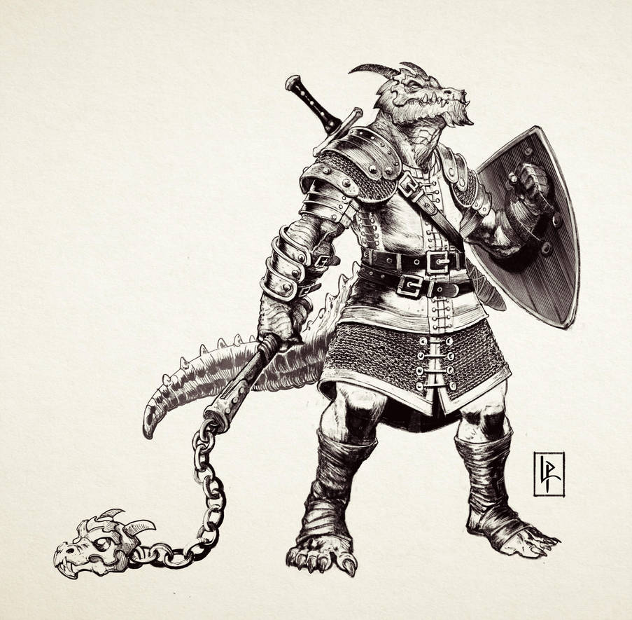Dragonborn Fighter by Savedra