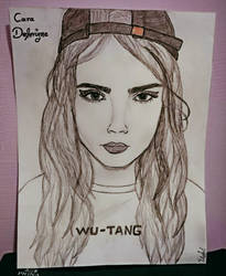 Cara Delevingne drawing  by fotstef