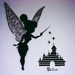 Tinkerbell wall draw  by fotstef