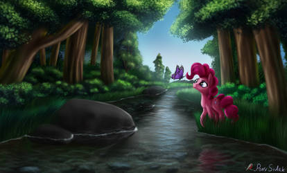 Pinkie Pie Walking by Pony-Stark
