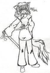 Kazehana and her sword by konekouramehsi