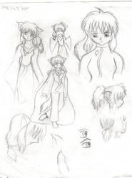 Sketches- Midori Kurakaze by konekouramehsi