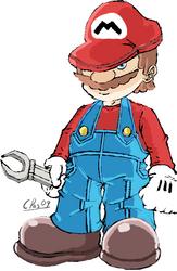 it's a him Short Plumber man by xacuchina