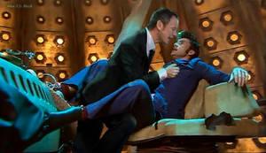 Master + Doctor in TARDIS by Alex-JD-Black