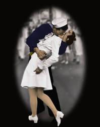 Kissing the War Goodbye by ilinamorato