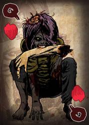 Zombie Card Deck - Queen by ilinamorato