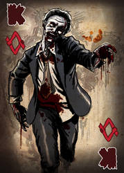 Zombie Card Deck - King by ilinamorato