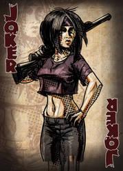 Zombie Card Deck - Joker by ilinamorato