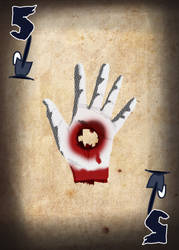 Zombie Card Deck - Five by ilinamorato