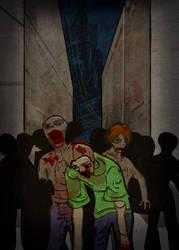 Zombie Card Deck - Back by ilinamorato