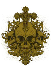 BAROQUE SKULL by IamAxiom