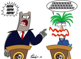Presidential Debate by Bradandez