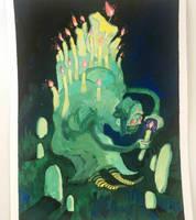 Candlelit Gravekeeper by gawki