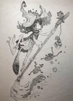 Frog Witch by gawki