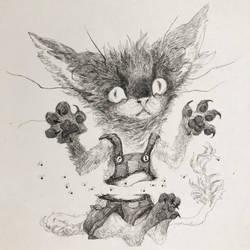 Scaredy Cat by gawki