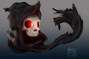 Realistic Duskull by shroomstone