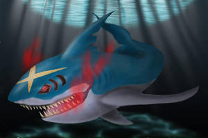 Realistic Sharpedo by shroomstone