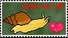 Stamp- Love Snails by WvWolfAngel