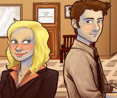 Ben and Leslie by BehindtheVeil