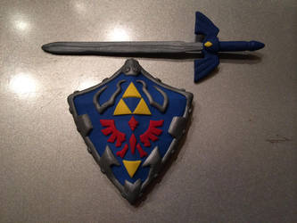 Ocarina Sword and Shield by Kanyon85