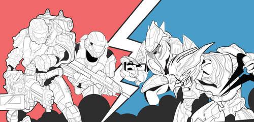 Spartans V Elites Slayer by xKendu