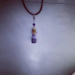 Purple stardust vial accessory by FaerieKitteh